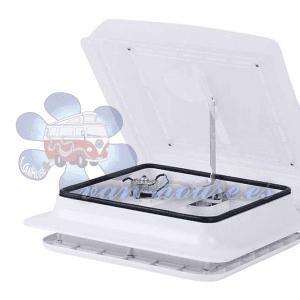 Claraboya con Ventilador Carbest 28×28 Blanca