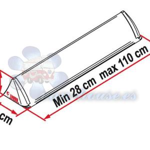 Spoiler para Techo de 28-110cm (Blanco)