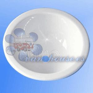 Lavabo Empotrado Redondo Blanco 290mm