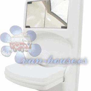 Lavabo Plegable con Espejos y Armario