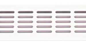 Rejilla de ventilación 400 x 80 mm (blanco)