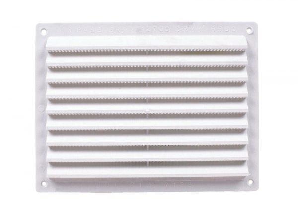 Rejillas de ventilación de plástico con mosquitera.
