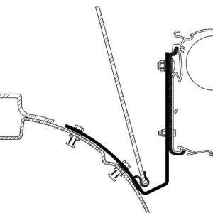 Adaptador para toldo – T4 VW