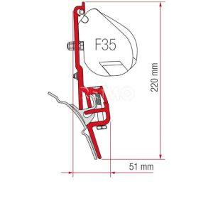 Adapter toldo Fiamma F45S/F45L/F35 VW T4