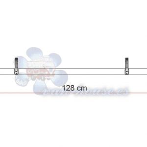 Rail Quick Pro – Carril Bici 128 cm Color Negro