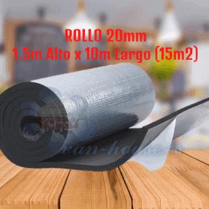 ROLLO 20mm Aislante interno – Kaiflex Autoadhesivo (15m2)