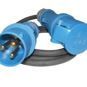 Cable adaptador de CEE 3×2,5mm, 1,5m (2×4 mm)