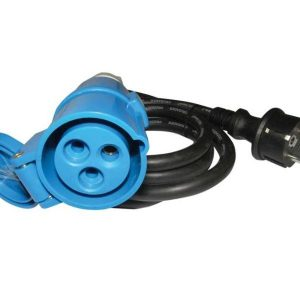 Cable adaptador, enchufe Schuko / CEE, 1,5m
