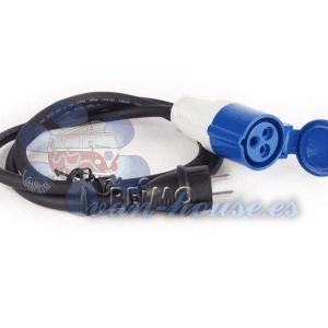 Cable adaptador CEE Schuko / CEE, 3×2,5mm. 40cm de largo