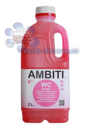 aditivo para la cisterna del agua del wc Ambiti Rinse 2 L