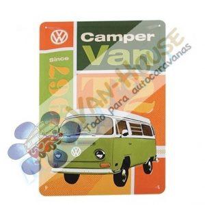 Placa de Metal decorativa VW