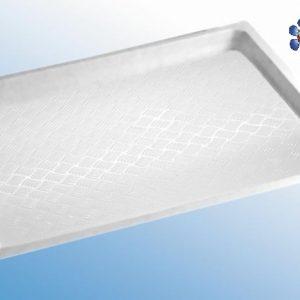 Plato de ducha de plástico blanco, 915 x 820 x 53 mm
