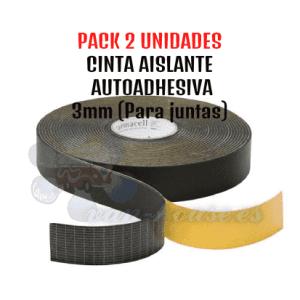 PACK 2 Cinta Aislante Adhesiva 3mm (PARA JUNTAS)