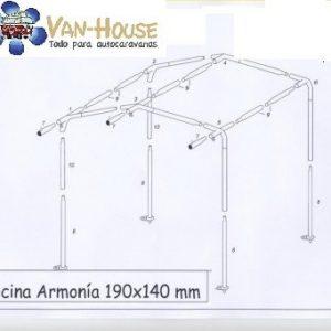 Cocina Leinwand Aramonia – 190 X 140 CM