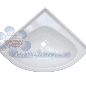 Lavabo de Esquina 345x345mm Color Blanco