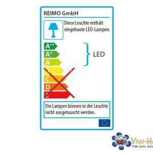 Punto LED flexible, negro, 2W de alta potencia, 110 lúmenes