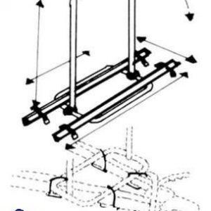 Portabicicletas con conexión a la barra de tiro PARA CARAVANA