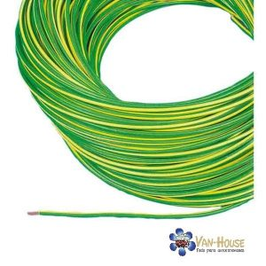 Cable coche verde-amarillo