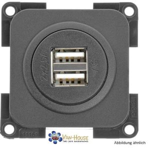 Conector de carga doble USB Color: negro