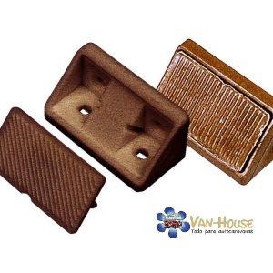 Conector para muebles con tapas de color marrón,  10 piezas