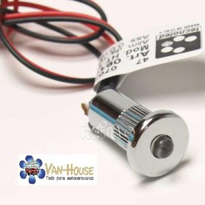 Punto de montaje LED mini, DM 15mm, 0,2W, azul