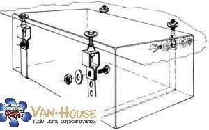Kit de montaje para tanques de agua