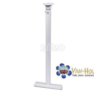 Base de mesa plegable de plata con pie en T