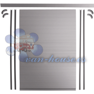 Kit de Persiana Enrollable (Incluye lamas, rieles, curvas y perfil en ángulo) (100cm Alto x 60cm Ancho)