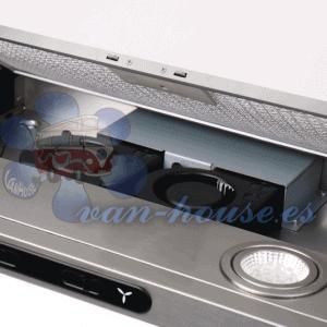 Campana Extractora Plateada – 98m3 / h (460x280x50mm) 12V