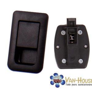 Cerradura de puerta 36x59mm negro para puertas de 12-18mm de grosor