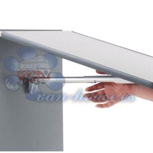 Soporte de Mesa Plegable (Longitud 150 mm) Aluminio Anodizado Plata