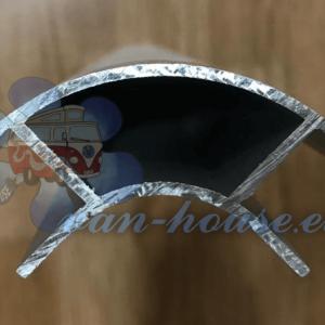 Perfil de Aluminio 2.2m (Abierto Ambos Lados)