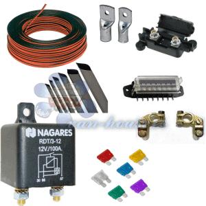 Kit Instalación Batería Auxiliar con Relé Automático NAGARES