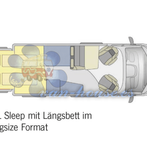 Room Concept XXL Sleep – Extensión para Furgonetas L1-L3, H2