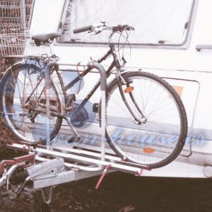 Polo con Soporte de Barra de Tiro para 2 Bicicletas