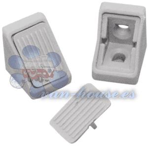 Mini Conector para Muebles – 10 Piezas Gris Claro