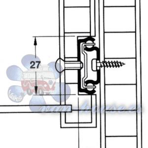 Carril Guía de Cajón 278 mm (2 Piezas)