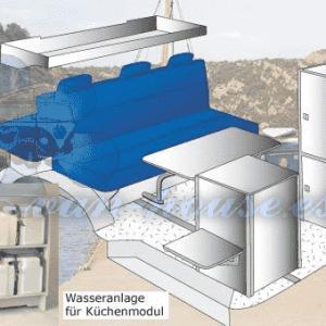 Sistema de Agua de Cocina Compacto – Stylo VW T4 Multivan