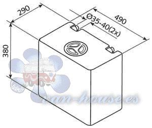 Depósito de Agua Dulce y Residual 50L – EV1004