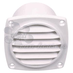 Rejilla de Ventilación con Eje Blanco – Exterior: 94×94 mm