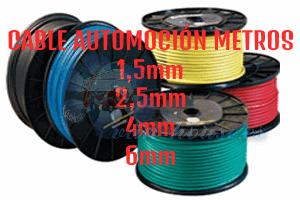 Cable Automoción – Corte a metros (Elegir Sección)