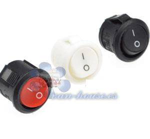Interruptor Redondo Botón (Elegir Color)