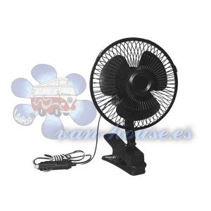 Ventilador de 12V – Oscilante con Soporte de Abrazadera