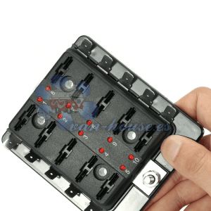 Caja Porta fusible 10 Líneas (1 entrada positivo)