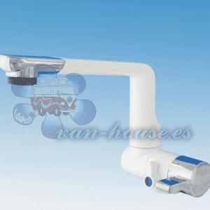 Grifo Mezclador Automático Modelo ARONA (Color Blanco / Cromo)