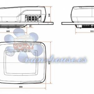Aire Acondicionado de Techo para Campers y Semi-Integrados -12V (Plein-Aircon)