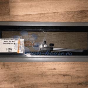 Ventana de Aluminio de 460 x 160 mm – Cristal real