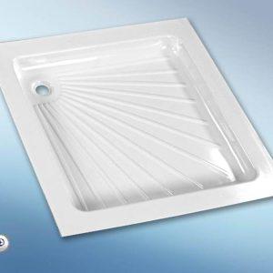 Plato de Ducha Plástico (665 x 655 x 80 mm) Color Blanco